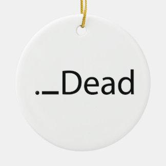 iDead Round Ceramic Decoration