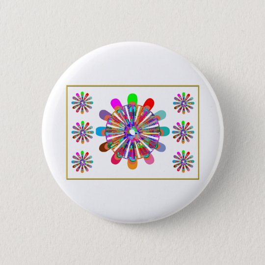 IDEAL GIFT:  LUCKY7   SevenSTAR Chakra Collection 6 Cm Round Badge
