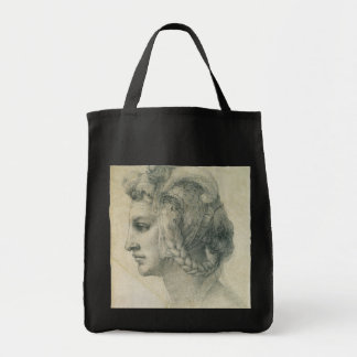 Ideal Head of a Woman by Michelangelo Grocery Tote Bag