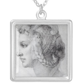 Ideal Head of a Woman, c.1525-28 Silver Plated Necklace