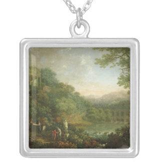 Ideal Landscape, 1776 Square Pendant Necklace