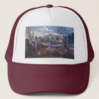 Ideal Landscape By Poussin Nicolas (Best Quality) Trucker Hat