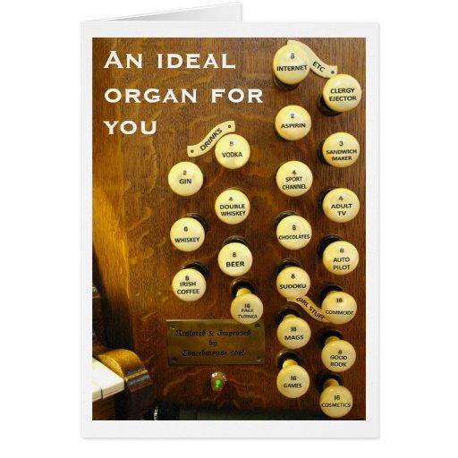 Ideal organ birthday card