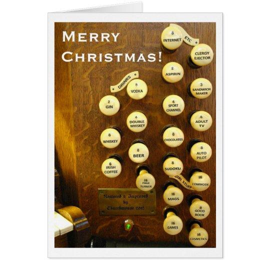 Ideal organ Christmas card