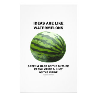 Ideas Are Like Watermelons Food For Thought Customized Stationery