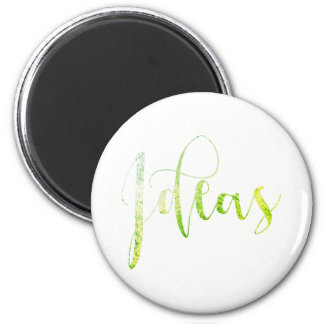 Ideas Green White Black Editorial Blogger Writer 6 Cm Round Magnet