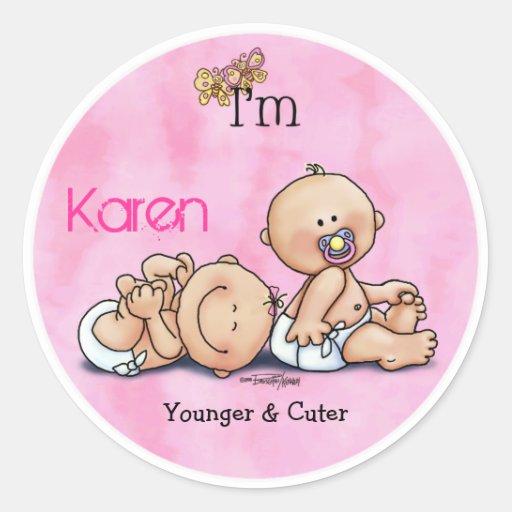 Identical Twin Girls Sticker