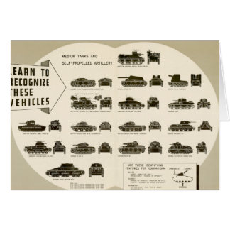 Identification Chart WWII Medium Tanks Card