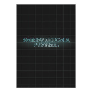 Identify Yourself Poster/Print Poster