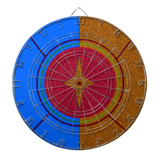 """Identifying Shield"" Metal Cage Dart Board"