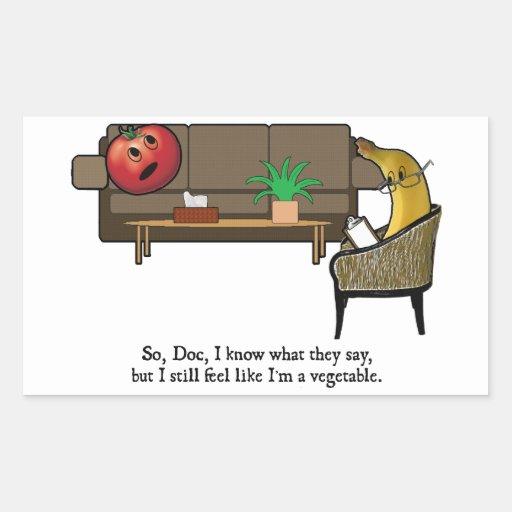 Identity Crisis, Tomato Sees Psychiatrist Rectangle Sticker