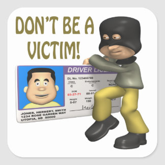 Identity Theft Sticker