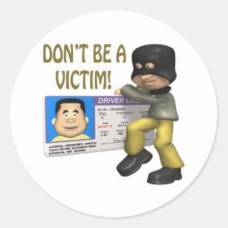 Identity Theft Round Sticker