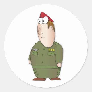 IDF Soldier Round Sticker