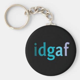 IDGAF About Keys Basic Round Button Key Ring