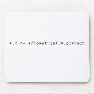 Idiomatically Correct R Programming Mug Mouse Mat