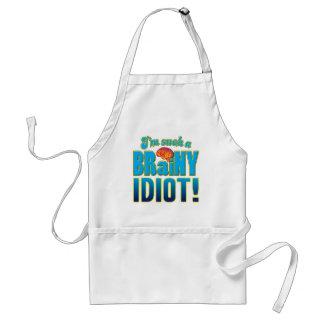 Idiot Brainy Brain Apron