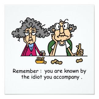 Idiot Company 13 Cm X 13 Cm Square Invitation Card