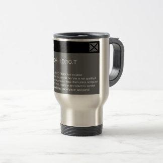 Idiot Error Travel Mug
