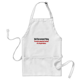 Idiot Prevention Policy Adult Apron
