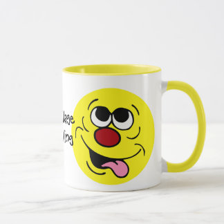 Idiotic Smiley Face Grumpey Mug