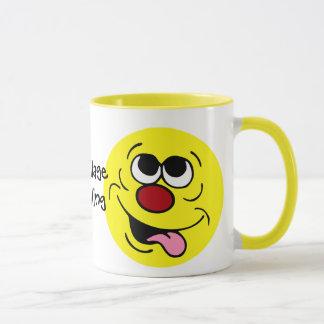 Idiotic Smiley Face Grumpey Mug