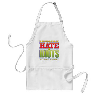 Idiots Hate Face Standard Apron