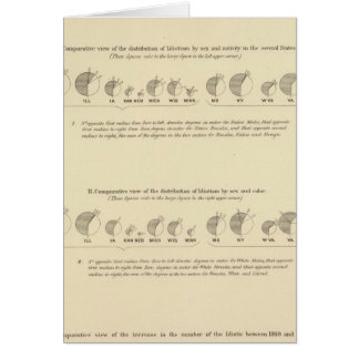 Idiots, Statistical US Lithograph 1870 Card
