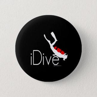 idive 6 cm round badge