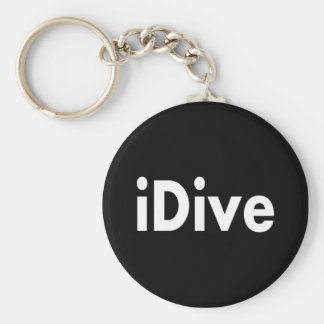 iDive Basic Round Button Key Ring