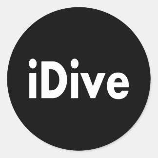 iDive Classic Round Sticker