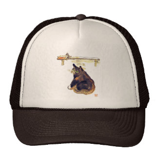 Idle Mouser - a cat named Terrance Mesh Hat