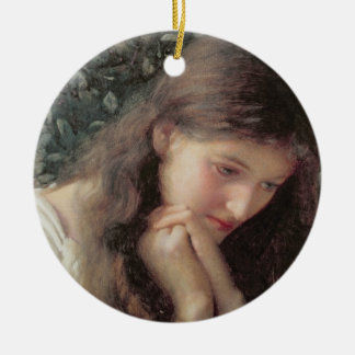 Idle Tears (w/c on paper) Christmas Ornament