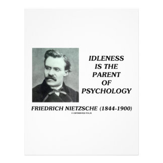 Idleness Is The Parent Of Psychology Personalized Flyer