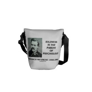 Idleness Is The Parent Of Psychology Nietzsche Commuter Bags