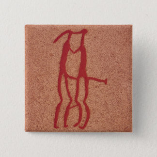 Idol couple 15 cm square badge