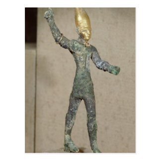 Idol of the god Baal, from Ugarit, Syria Postcard