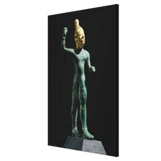 Idol of the storm god Baal, from Syria, Bronze Age Canvas Print