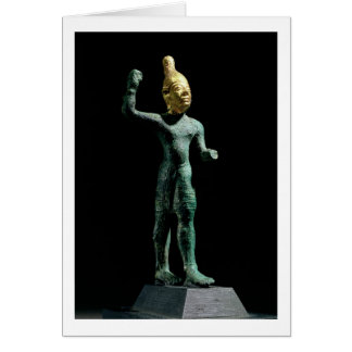 Idol of the storm god Baal, from Syria, Bronze Age Card