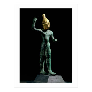 Idol of the storm god Baal, from Syria, Bronze Age Postcard