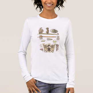 Idols of the Caribbeans (colour engraving) Long Sleeve T-Shirt