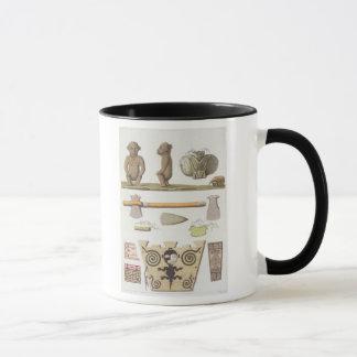 Idols of the Caribbeans (colour engraving) Mug