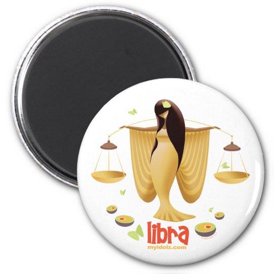 Idolz Libra 6 Cm Round Magnet