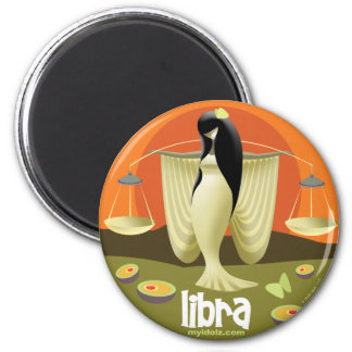 Idolz Libra Circle 6 Cm Round Magnet