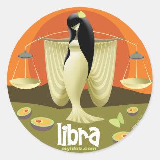 Idolz Libra Circle Classic Round Sticker