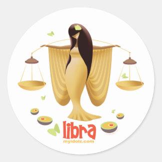 Idolz Libra Classic Round Sticker