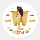Idolz Libra Round Sticker