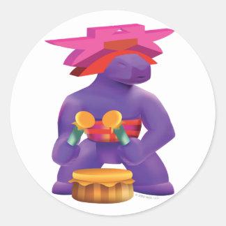 Idolz Totemz Kaz Round Sticker