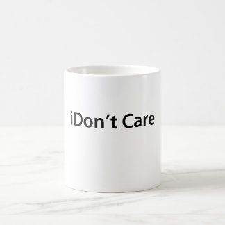 iDon't Care Basic White Mug
