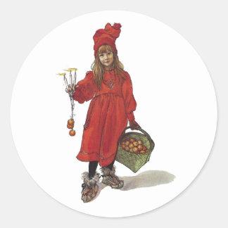 Iduna and The Magic Apples Round Sticker